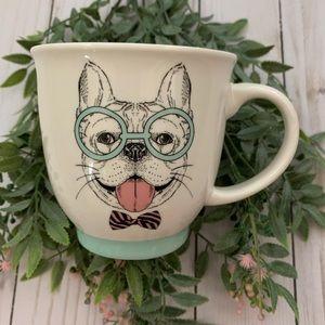 Sheffield Home Bulldog Coffee Mug Glasses Bow tie